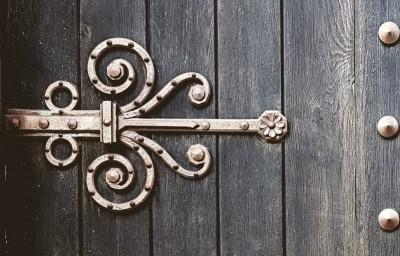 Brass door ornament